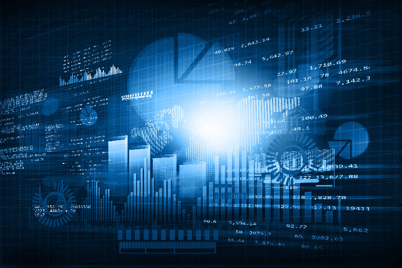Financial chart and graphs background. stock market anylis.